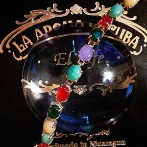 Multi Color Jade Tennis Bracelet